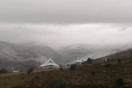 Se registraron algunas nevadas en los cerros del Sistema de Ventania
