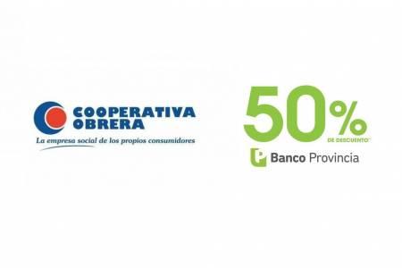 Cooperativa Obrera adhiere al 50 por ciento de reintegro para compras con tarjetas del Banco de la Provincia de Buenos Aires