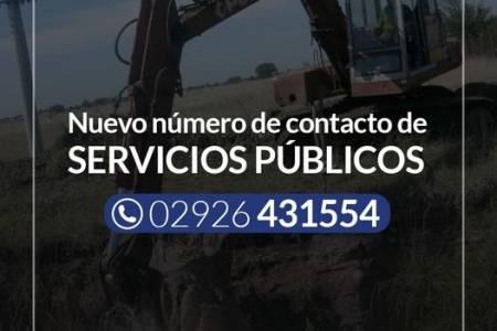 Número telefónico de Servicios Públicos