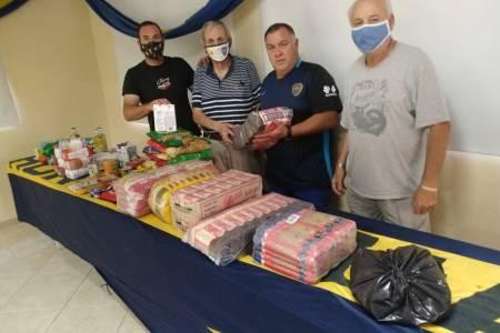"""La Peña Dale Boca entregó donaciones a la agrupación """"MANOS SOLIDARIAS"""""""