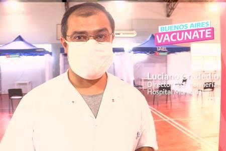 El Centro de vacunación se trasladó al Polideportivo Municipal
