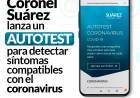 Coronel Suárez lanza un Autotest para detectar síntomas compatibles con el coronavirus